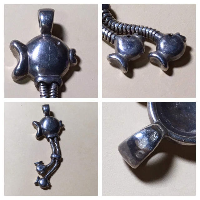 NY クリオブルー フィッシュ 925シルバー ペンダントヘッド 美品 レディースのアクセサリー(ネックレス)の商品写真