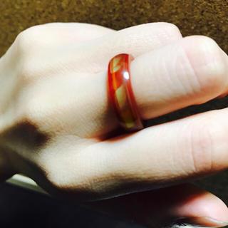 心愛様専用 オレンジの石のムードリング(リング(指輪))