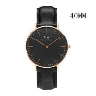 ダニエルウェリントン(Daniel Wellington)のダニエルウェリントン新品ピンクゴールド×ブラック40MM「ラッピング無料 」(腕時計(アナログ))
