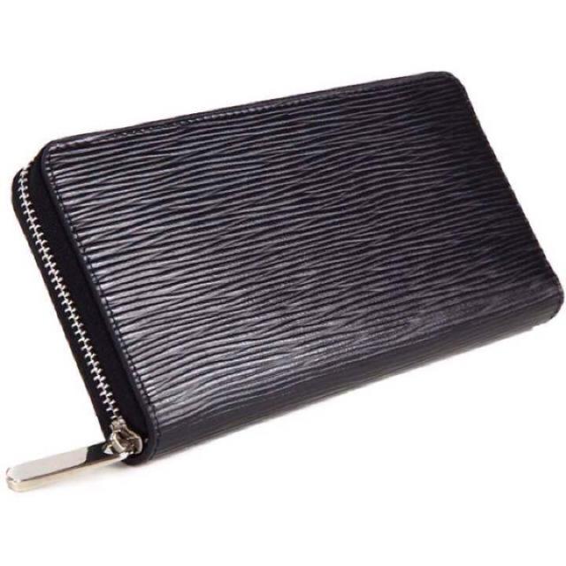 5e4519aae9bd 【エピ柄】ブラック 大人気 ラウンドファスナー 長財布 財布 ヴィトン 好きに メンズの