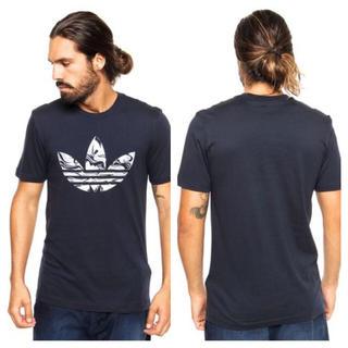 アディダス(adidas)の紺L ‼️カモ デカロゴ大人気‼️adidas originals Tシャツ(Tシャツ/カットソー(半袖/袖なし))