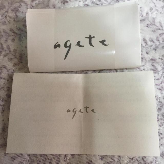 agete(アガット)のagete シルバー腕時計  レディースのファッション小物(腕時計)の商品写真