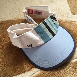 ウィルソン(wilson)のウィルソン☆wilson☆サンバイザー☆テニスウェア☆フリーサイズ(ウェア)