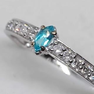 パライバトルマリン&ダイヤモンドリング 10号(リング(指輪))