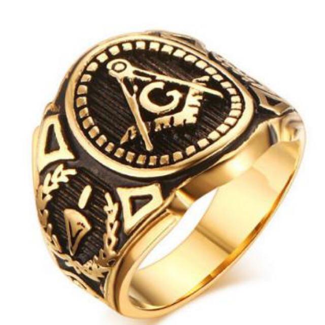 フリーメイソン 指輪 リング メンズ レディース レディースのアクセサリー(リング(指輪))の商品写真