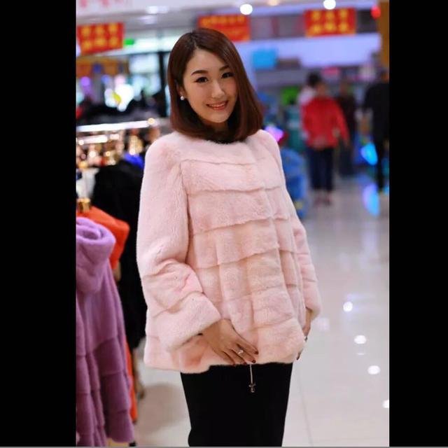ピンクミンクコート レディースのジャケット/アウター(毛皮/ファーコート)の商品写真