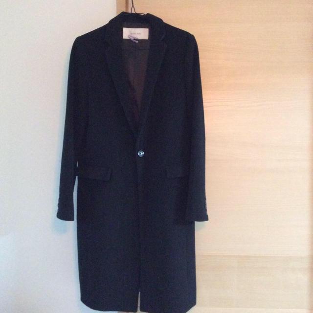 LE CIEL BLEU(ルシェルブルー)のルシェルブルー チェスターコート ブラック レディースのジャケット/アウター(チェスターコート)の商品写真