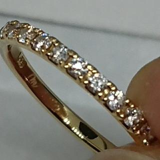 K18 ダイヤモンドハーフエタニティリング 7号(リング(指輪))