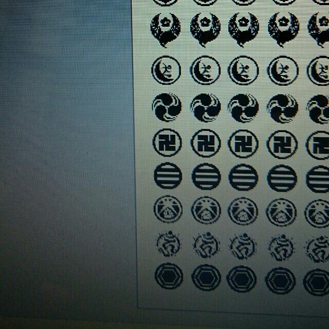 ハガキサイズ★ネイルシール★黒紋(刀剣乱舞) ハンドメイドの素材/材料(各種パーツ)の商品写真