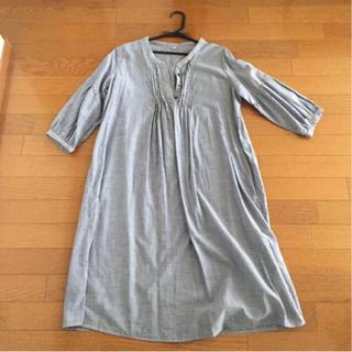 ムジルシリョウヒン(MUJI (無印良品))のシャツワンピース(ひざ丈ワンピース)