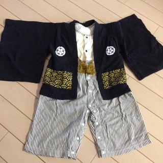 ベルメゾン(ベルメゾン)のベルメゾン★袴風ロンパース90(ドレス/フォーマル)