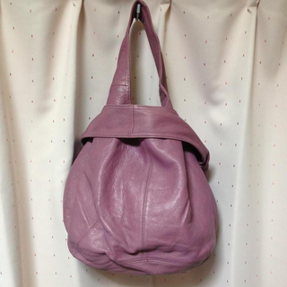 パピヨネ(PAPILLONNER)のパピヨネ 本皮bag ピンク(ハンドバッグ)