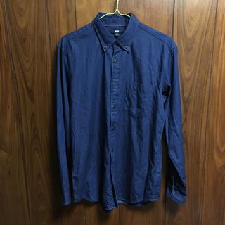 ユニクロ(UNIQLO)のUNIQLO ユニクロ 男女兼用 Mサイズ 綿•100% デニム長袖シャツ正規品(シャツ)