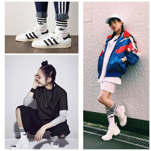 adidas(アディダス)の新品★adidas originalsロゴソックス レディースのレッグウェア(ソックス)の商品写真