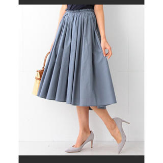 デミルクスビームス(Demi-Luxe BEAMS)のDemi-Luxe BEAMS タイプライターギャザースカート(ひざ丈スカート)