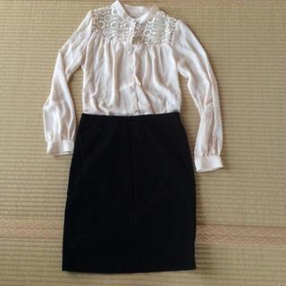 デミルクスビームス(Demi-Luxe BEAMS)のビームス ポンチ素材 ストレッチスカート(ひざ丈スカート)