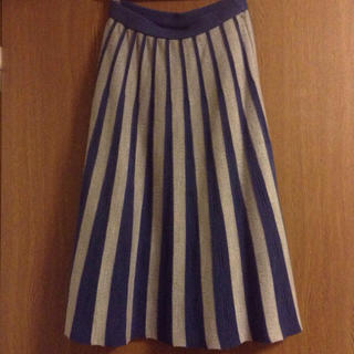 アーモワールカプリス(armoire caprice)のl'armoire de luxe☆ニットスカート☆ブルー×グレー(ロングスカート)