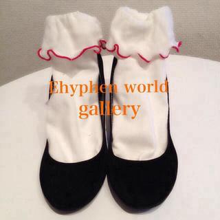 イーハイフンワールドギャラリー(E hyphen world gallery)のEhyphen太ヒールパンプス 値下げ(ハイヒール/パンプス)