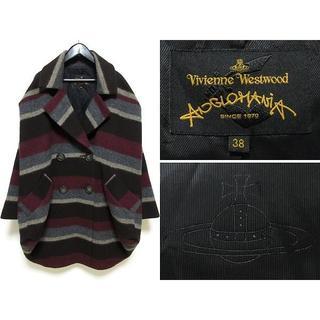 ヴィヴィアンウエストウッド(Vivienne Westwood)の美品 13AW ヴィヴィアン アングロマニア 変形BIGウールコート 38(ガウンコート)