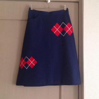 ロキエ(Lochie)の【お取り置き中】アーガイル柄タイトスカート(ひざ丈スカート)
