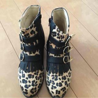 ジーユニット(G-UNIT)の美品♡豹柄ブーツ(ブーツ)