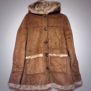 ムジルシリョウヒン(MUJI (無印良品))の無印良品 フード付きムートンコート(毛皮/ファーコート)