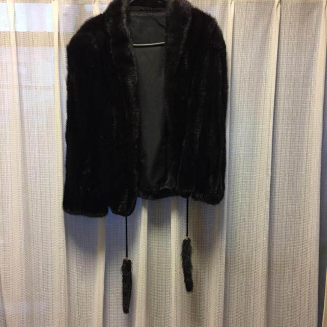 黒ミンク毛皮ハーフコート レディースのジャケット/アウター(毛皮/ファーコート)の商品写真