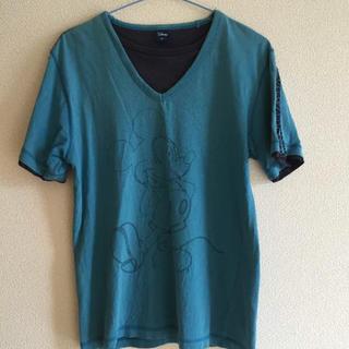 ディズニー(Disney)のミッキーTシャツ ブルー×ネイビー(Tシャツ/カットソー(半袖/袖なし))