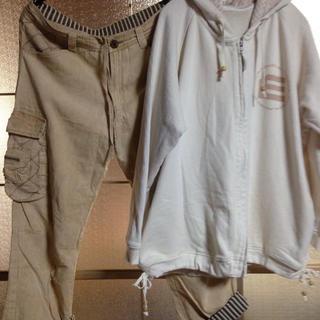 エルロデオ(EL RODEO)のエルロデオ ベージュ羽織  ダボパンツ(カジュアルパンツ)