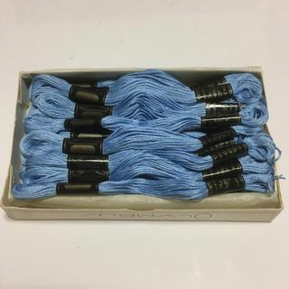 オリンパス(OLYMPUS)の刺繍糸 オリムパス25番 単色24本入NO.363(ブルー)(生地/糸)