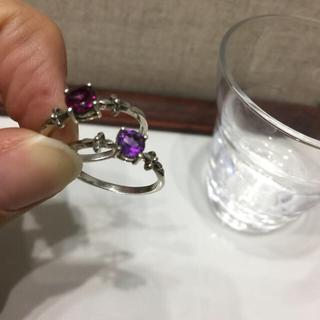 トルマリンとアメジストのリング(リング(指輪))