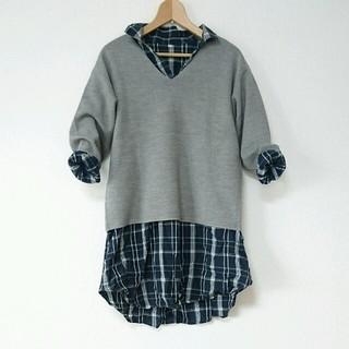 ムジルシリョウヒン(MUJI (無印良品))の無印良品 シャツ ワンピース(ひざ丈ワンピース)