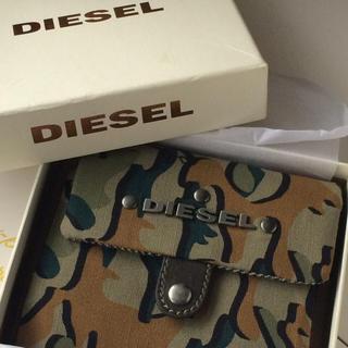 ディーゼル(DIESEL)の新品・箱付き❗️ディーゼル 折り財布 迷彩柄×ツイード(折り財布)