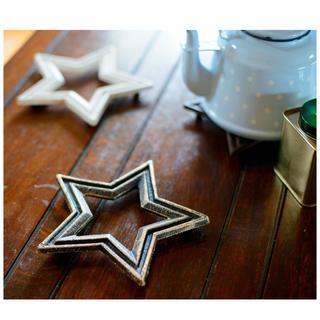 ロンハーマン(Ron Herman)の新品 星型鍋敷き ホワイト 人気 wtw(テーブル用品)