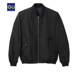 ジーユー(GU)のmen's ブラック ma-1(ブルゾン)