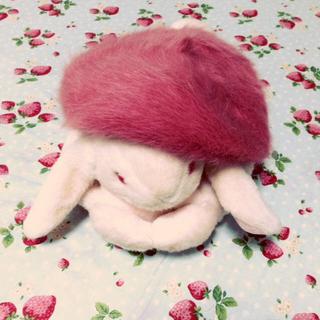 セシルマクビー(CECIL McBEE)のCECIL♡アンゴラ♡ピンクベレー帽(ハンチング/ベレー帽)
