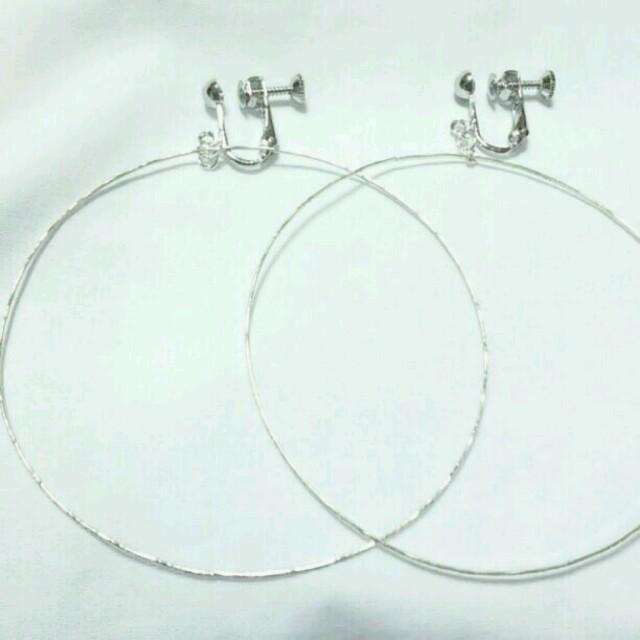 フープイヤリング ハンドメイドのアクセサリー(イヤリング)の商品写真