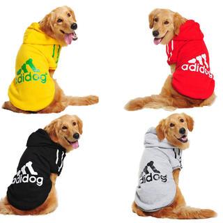 アディダス(adidas)の新品 大型犬 adidog パーカー グレー(犬)