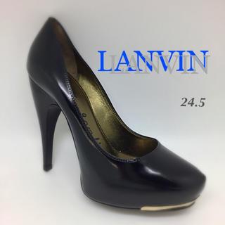 ランバン(LANVIN)のLANVIN👠24.5👠バッグラインヒール(ハイヒール/パンプス