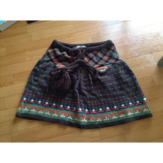 にっと*あったかスカート(ひざ丈スカート)