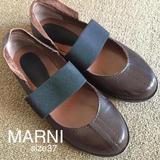 マルニ(Marni)のMARNIレザーバレーシューズ37(バレエシューズ)