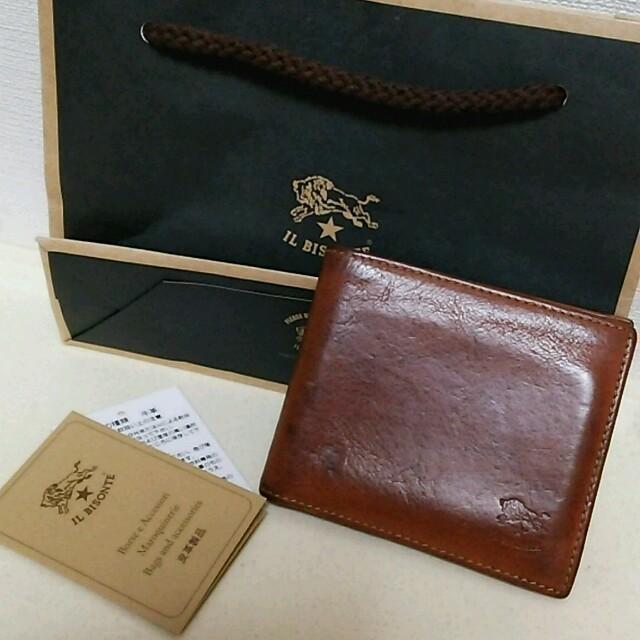 80ecdb2eb2d4 IL BISONTE(イルビゾンテ)のイルビゾンテ 二つ折り財布 メンズのファッション小物(折り