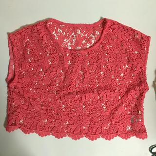 ジーユー(GU)のピンク レース(シャツ/ブラウス(半袖/袖なし))