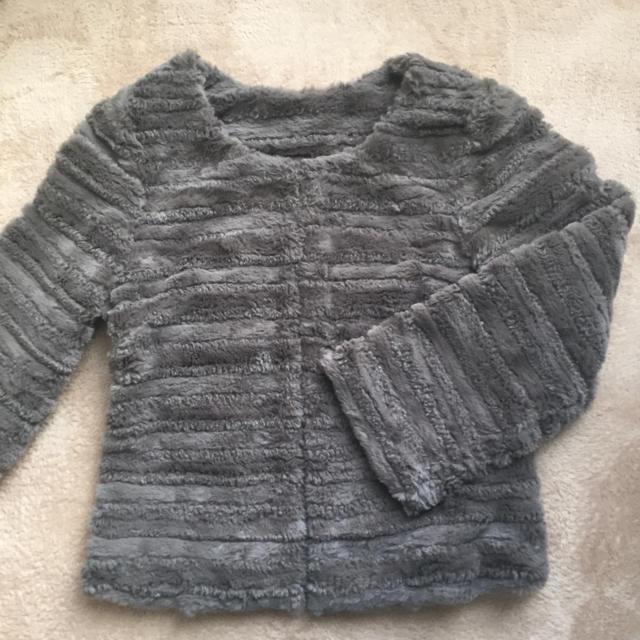 フェイクファー ジャケット レディースのジャケット/アウター(毛皮/ファーコート)の商品写真