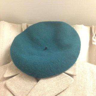 緑のベレー帽(ハンチング/ベレー帽)