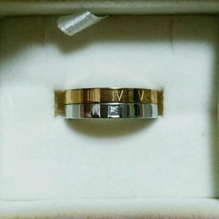 ステンレス製!キュービックジルコニア付きリング(リング(指輪))