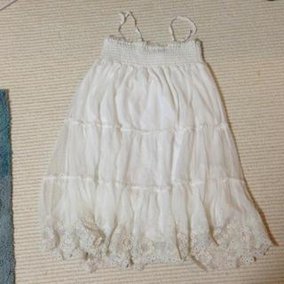 ジエンポリアム(THE EMPORIUM)のチュール白スカート(ひざ丈スカート)