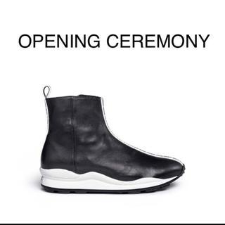 オープニングセレモニー(OPENING CEREMONY)の入手困難 美品 opening cermony レザーブーツ(ブーツ)