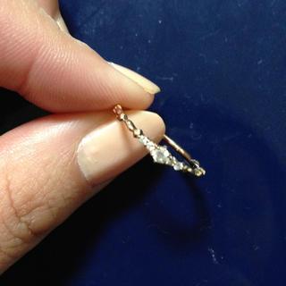 アガット(agete)の【正規品】【美品】agete ピンクゴールド ダイヤモンドリング(リング(指輪))