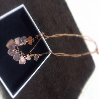 スリーフォータイム(ThreeFourTime)の美品♡ピンクゴールドのハートネックレス(ネックレス)